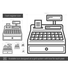 Cash register line icon vector