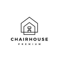 chair house logo icon vector image