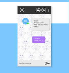 Chat window for smartphone vector
