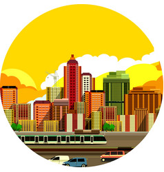 cityscape view city vector image
