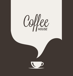 coffee cup logo coffee banner concept vector image