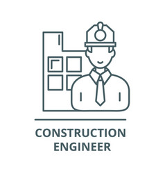 construction engineer line icon vector image