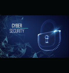 Coputer internet cyber security background cyber vector