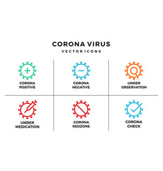 Corona virus icon bundle pack essential vector