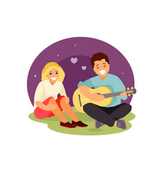 couple in love vector image