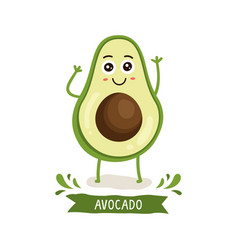 cute avocado character vector image