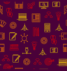 design thinking signs seamless pattern background vector image