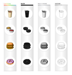 dessert cafe restaurant and other web icon in vector image
