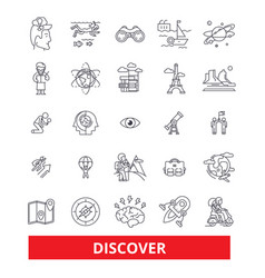 discover explorer find magnifying glass vector image
