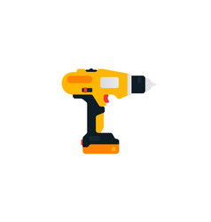 electric screwdriver drill side view power tools vector image
