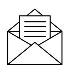 envelope icon image vector image