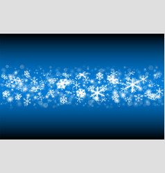 falling snow on a blue background vector image