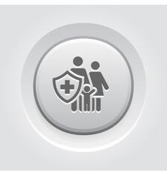 Family Insurance Icon Grey Button Design vector