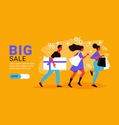 flat big sale banner vector image