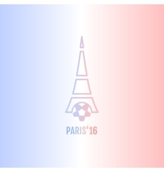 Football or soccer France Euro 2016 logos vector