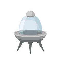 futuristic alien ship with three legs and glass vector image
