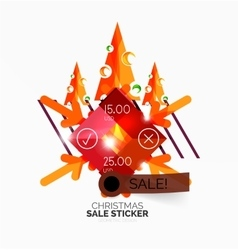 Geometric Christmas Sale Stickers vector