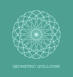 Geometric guilloche rosette vector