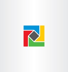 Geometric square colorful business logo abstract vector
