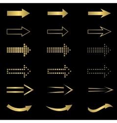 Golden Arrow set vector