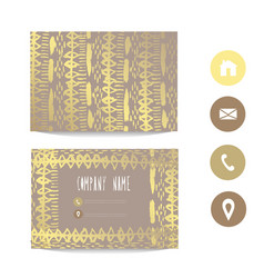 golden business card template vector image