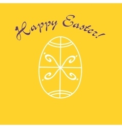 Greeting card for easter holidays vector