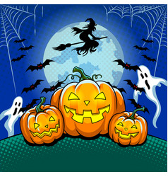 halloween theme pop art vector image