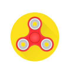 Hand fidget spinner toy flat icon on the white vector