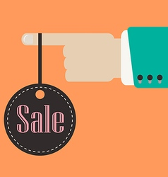 hand holding sale label vector image