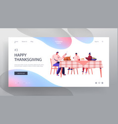 happy family dad and kids thanksgiving day vector image