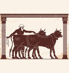 Hercules kidnaps herd of gerion vector