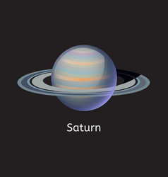 High quality space planet galaxy astronomy saturn vector