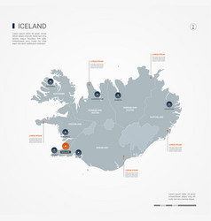 Iceland infographic map vector