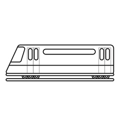Isolated bullet train vehicle design vector