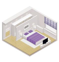 isometric bedroom icon vector image