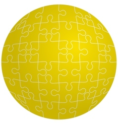 Jigsaw puzzle in the shape of a sphere vector image