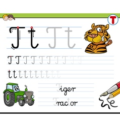 Learn to write letter t vector