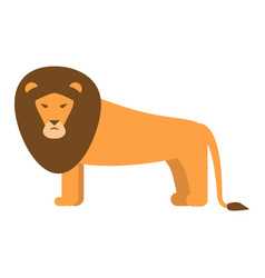 lion icon flat style vector image