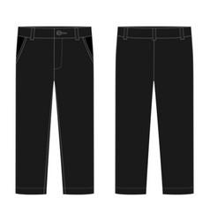 Male black pants kids trousers design template vector