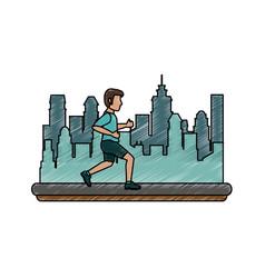 man running cartoon vector image