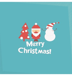 Merry Christmas and New Years Card vector image