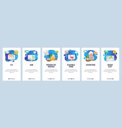 mobile app onboarding screens business job vector image