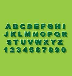 Modern abstract alphabet font alphabet vector