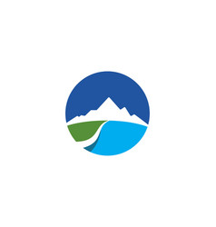 mountain logo business template vector image