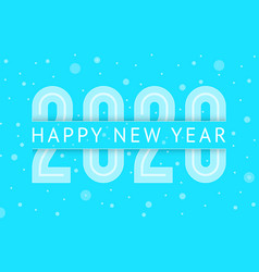 new year 2020 greeting card design 10eps vector image