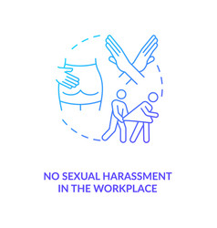 No sexual harassment in workplace blue gradient vector