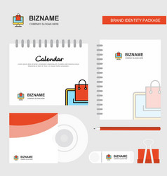 online shopping logo calendar template cd cover vector image