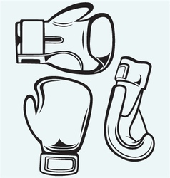 Pair boxing gloves vector image