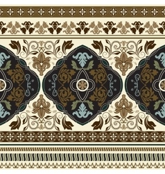 Paisley seamless pattern Ornamental border vector