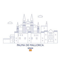 Palma de mallorca city skyline vector
